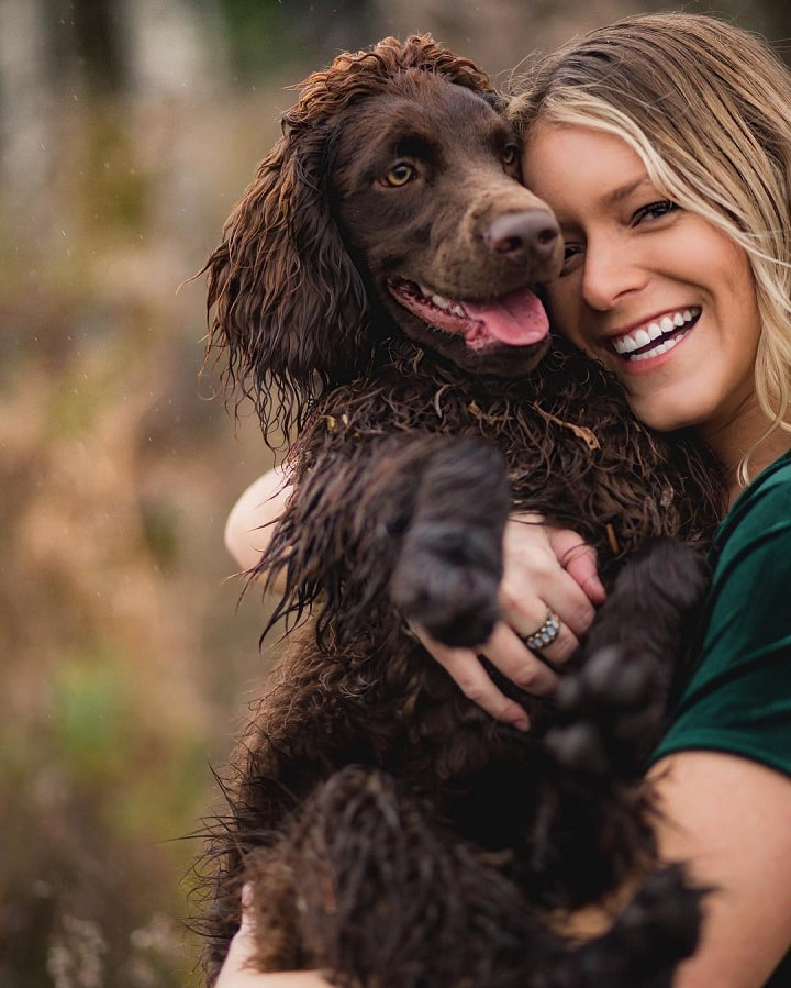 Boykin Spaniel with his Owner
