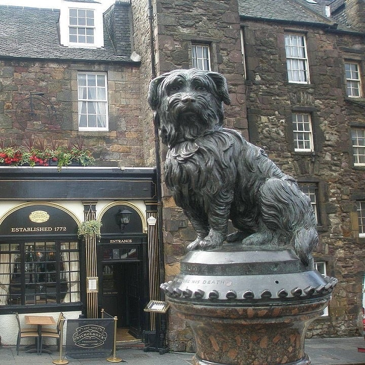 Skye Terrier named Bobby Statue