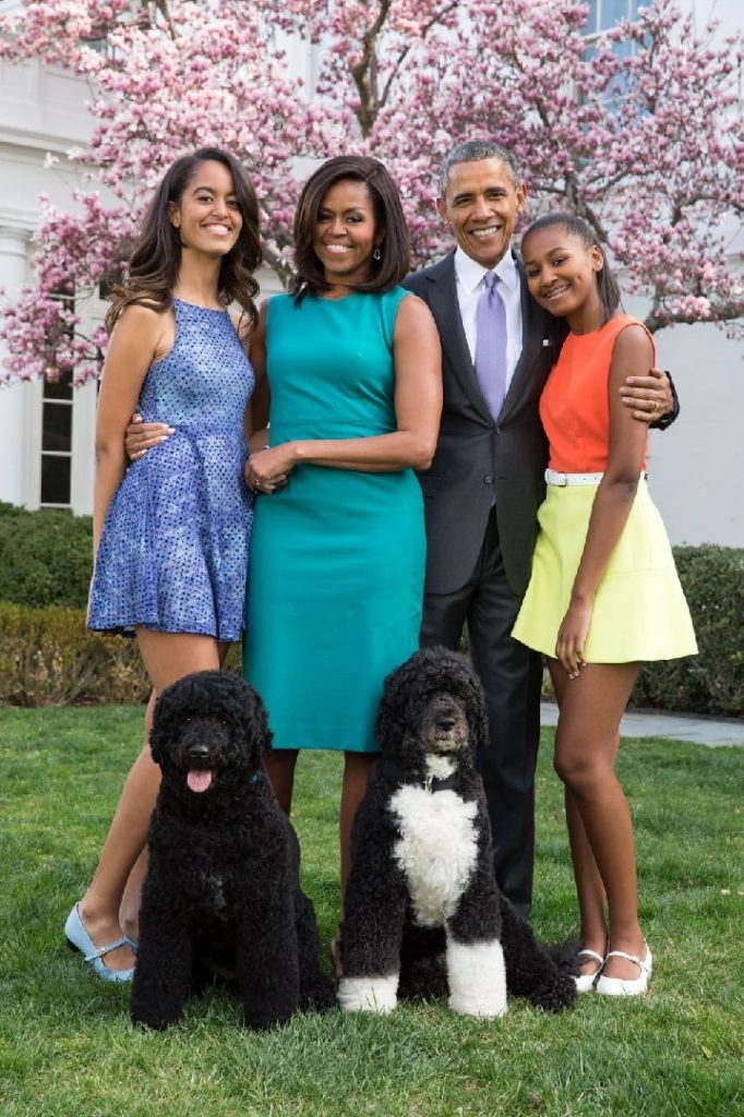 Barack Obama with Portuguese Water Dog