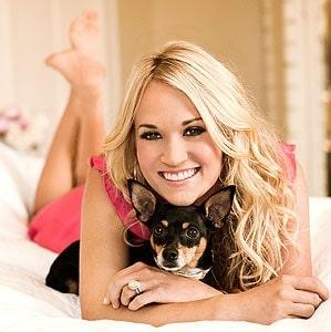 Carrie Underwood with her Rat Terrier