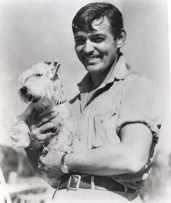 Cary Grant with his pet