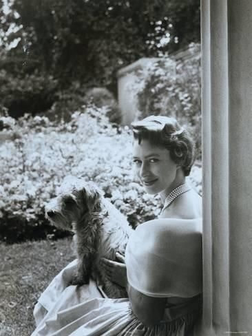 Princess Margare with her pet
