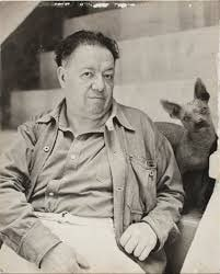 Xoloitzcuintli with Diego Rivera