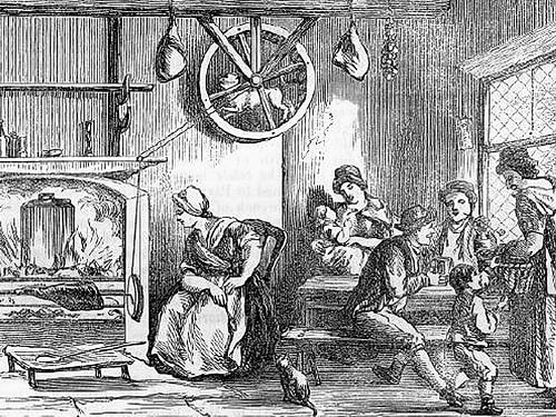 Turnspit Dog running on the wheel