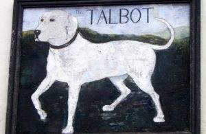 A picture of Talbot Hound in a frame.